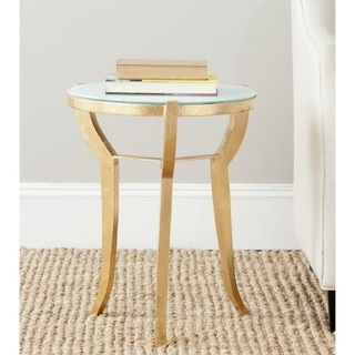 Shop for Safavieh Treasures Ormond Gold/ White Top Accent Table. Get free shipping at Overstock.com - Your Online Furniture Outlet Store! Get 5% in rewards with Club O! - 15277103