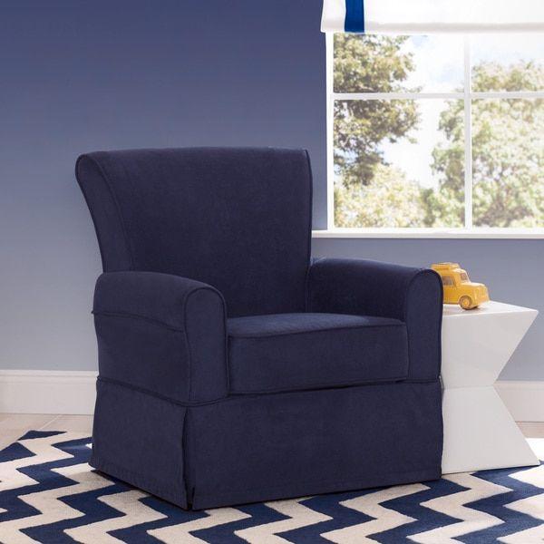 delta children benbridge nursery glider swivel rocker chair navy - Glider Rocker Chair