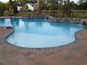 pool ideas pavers stamped concrete our backyard resort pinterest