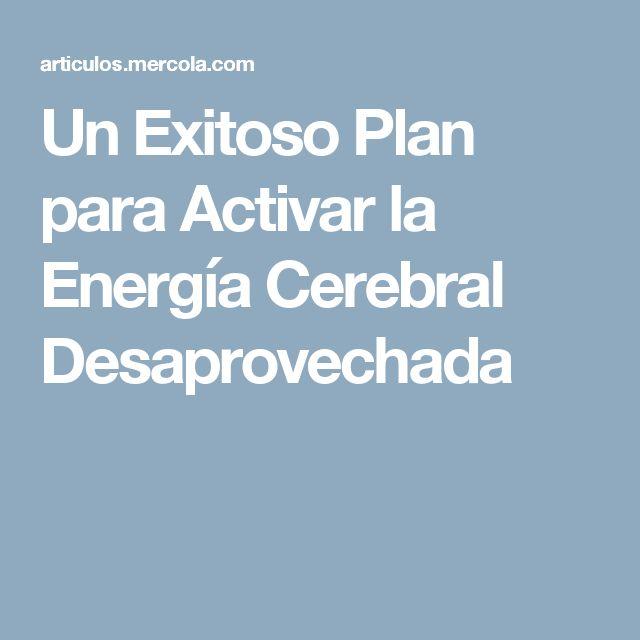 Un Exitoso Plan para Activar la Energía Cerebral Desaprovechada