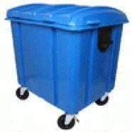 O Coletor de lixo 1100 litros possui tampa bi-Partida para coleta de resíduos. O Coletor de lixo 1100 litros é fabricado em conformidade com a norma NBR 15911-3. Composto de corpo, tampa, rodízios, dreno, munhão para basculamento. Lateral e reforço em chapa de aço.