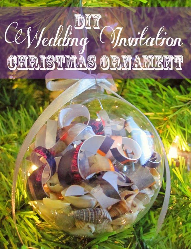 Best 25 wedding invitation keepsake ideas on pinterest for Engagement christmas tree ornaments