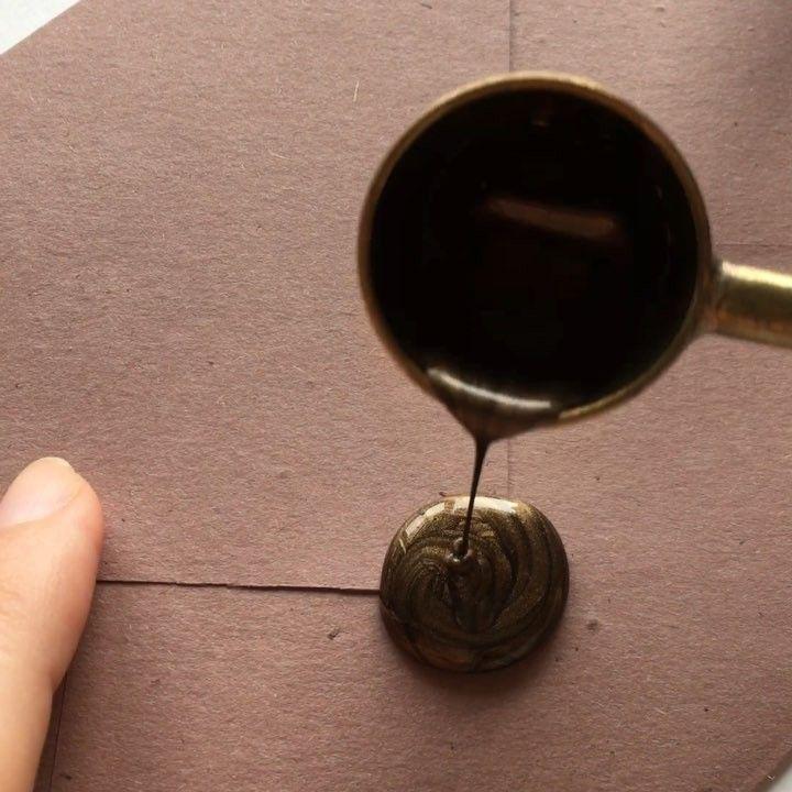 """Wax seal stamp """"Heart Branches"""" on our handmade envelope / Ștampilă sigiliu ceară """"Inimioară Crenguțe"""" / © PAPIRA invitatii de nunta personalizate"""