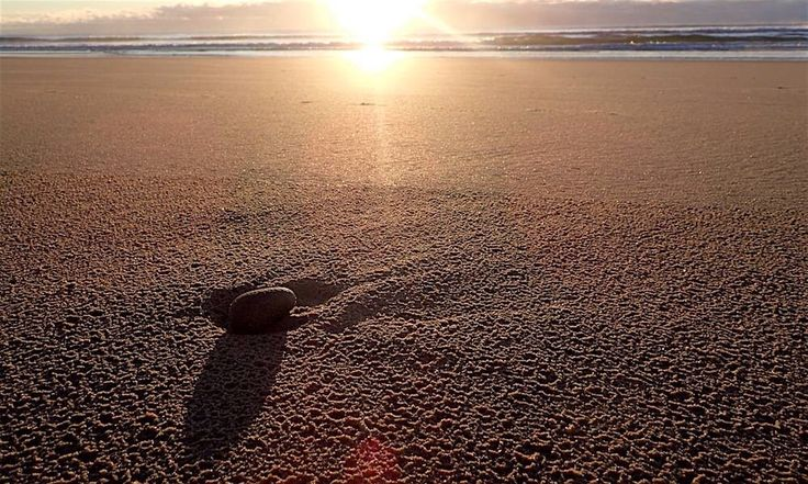 A Bay Beach,  before the tourist spoil the pristine sand! Sunrise running