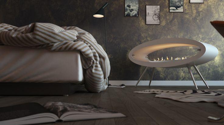 contemporary interior design- sleep tight, decoflame® Elipse Floor