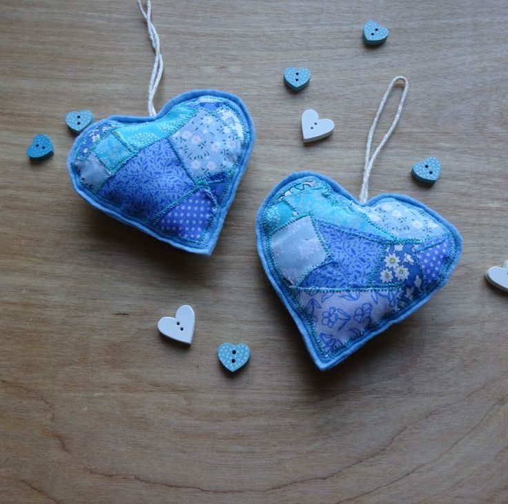 A personal favourite from my Etsy shop https://www.etsy.com/uk/listing/491149480/country-heart-decoration-blue-heart