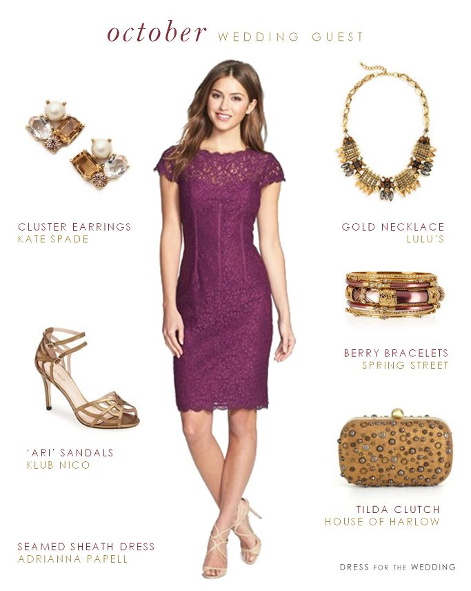 What to wear to an october wedding october and weddings for Fall wedding guest dress
