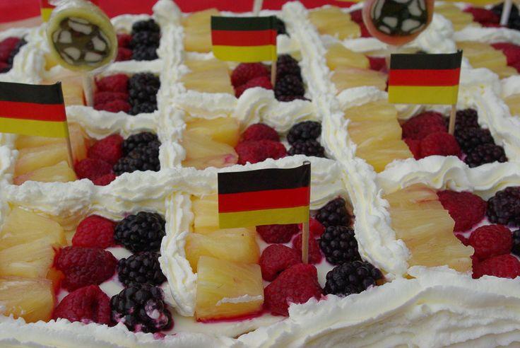 Mein Kuchen zur WM 2014 #WM 2014 #Kuchen #Deutschland #Fußball