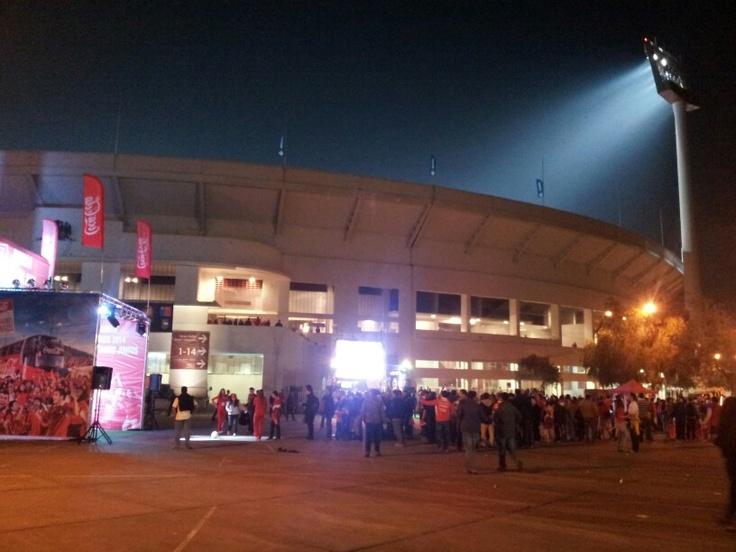Estadio nacional Julio Martinez / Chile - Bolivia / Clasificatorias Brasil 2014