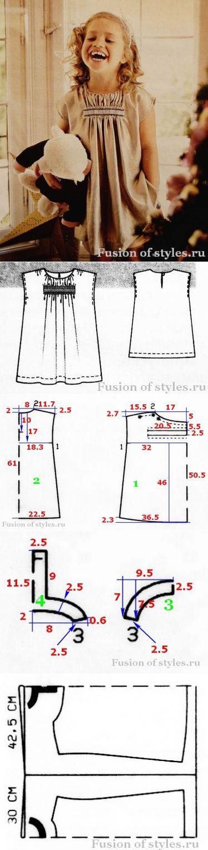 Простое платье для девочки | Fusion of Styles