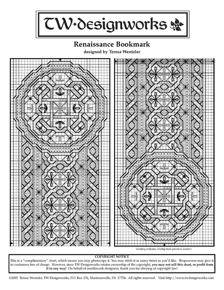 renaissance bookmark pattern