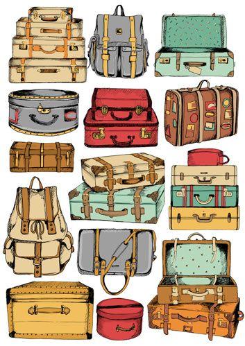 Suitcase print