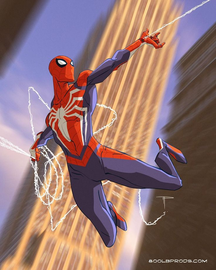 """Insomniac Spider-Man from the PS4 Game - Michael 'Gorilla' Pasquale (@800lbproductions) on Instagram: """"Still pumped after watching that sick gameplay trailer, LOVE drawing this costume …"""""""