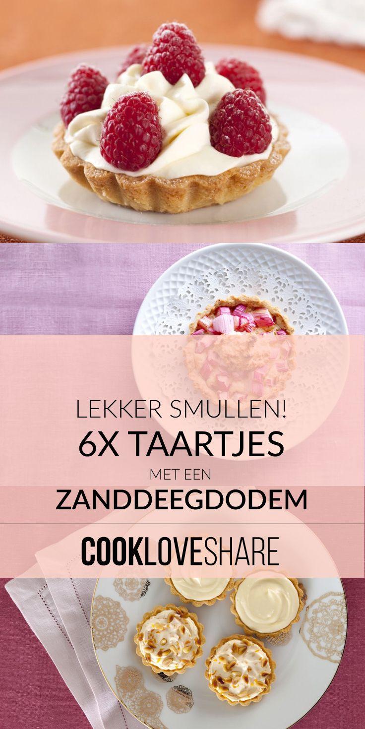 Heerlijk smullen & snoepen? Dat kan met deze 6 heerlijke variaties van taartjes met een zanddeegbodem. Dus lekker bakken maar! #cookloveshare #moederdag #mothersday #koken #bakken