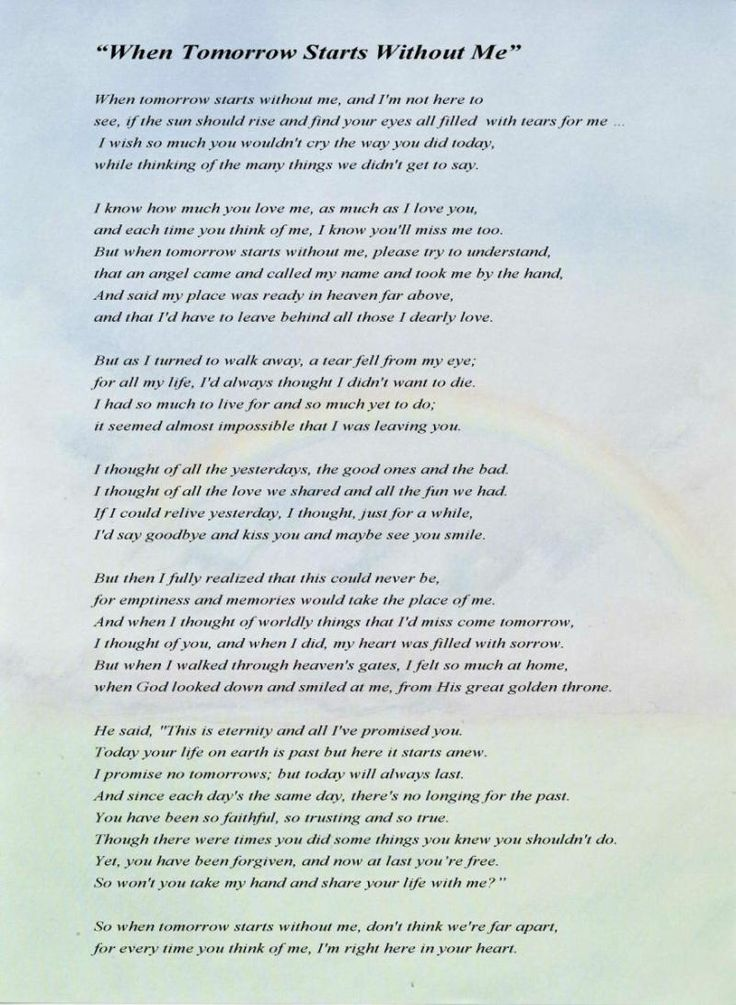 A poem i read to my grandma and tia when they passed. Its beautiful
