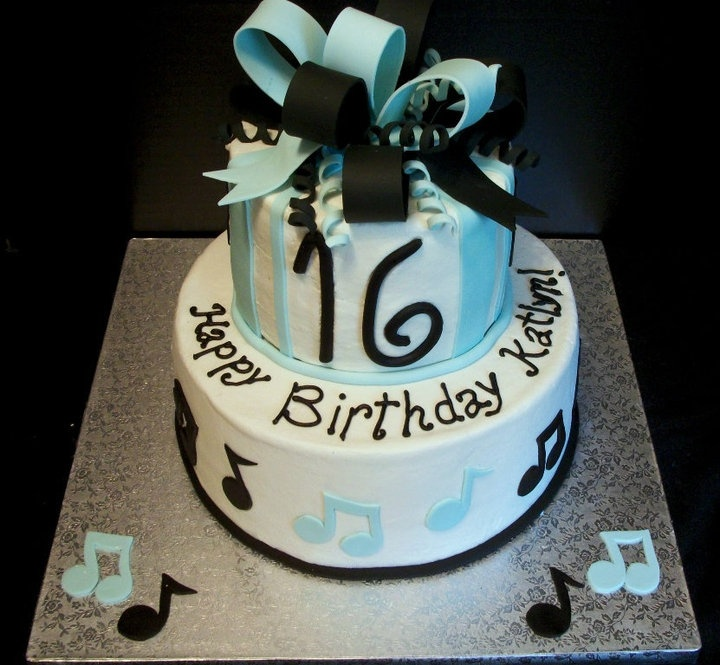 Cake Decorating Ideas Music Theme : 16th Birthday cake for a music lover. Cakes Pinterest Birthday cakes, Birthdays and Music ...