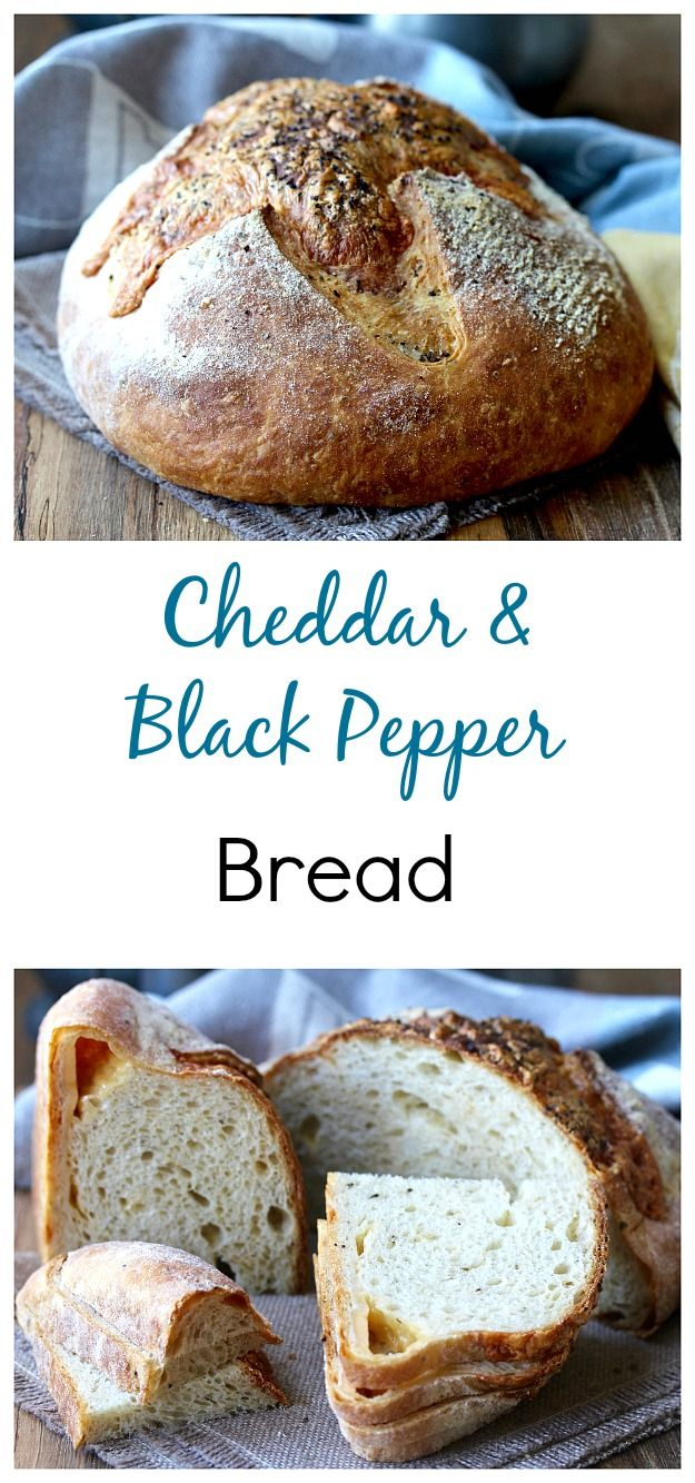 cheddar cheese and black pepper bread