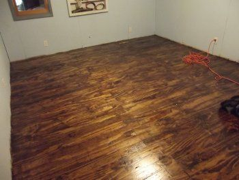Plywood plank floor - MB: Best tutorial I've seen, and I love the stain color they used (which is noted in the post).
