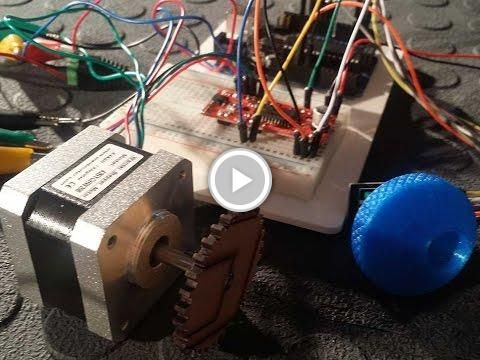 Control a stepper motor using an arduino a rotary encoder for Nema 17 stepper motors with rotary encoders