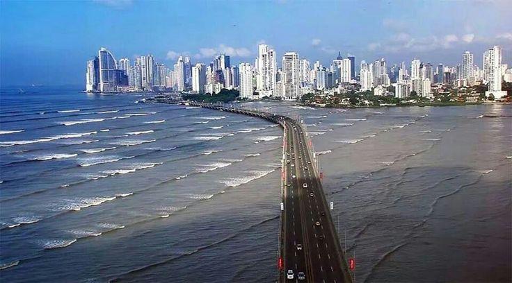 Tramo marino del Corredor Sur. /. Panamá♡ | Panama | Pinterest