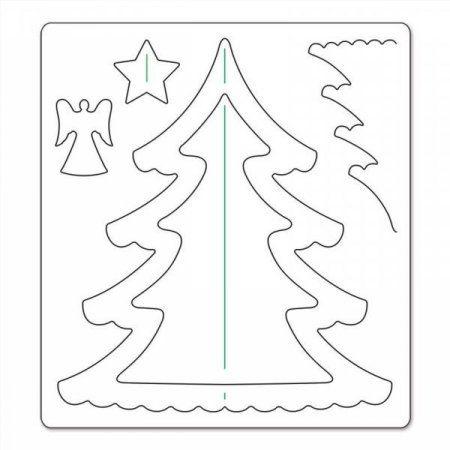 Трафарет  елки для вырезания из бумаги: шаблоны скачать и распечатать