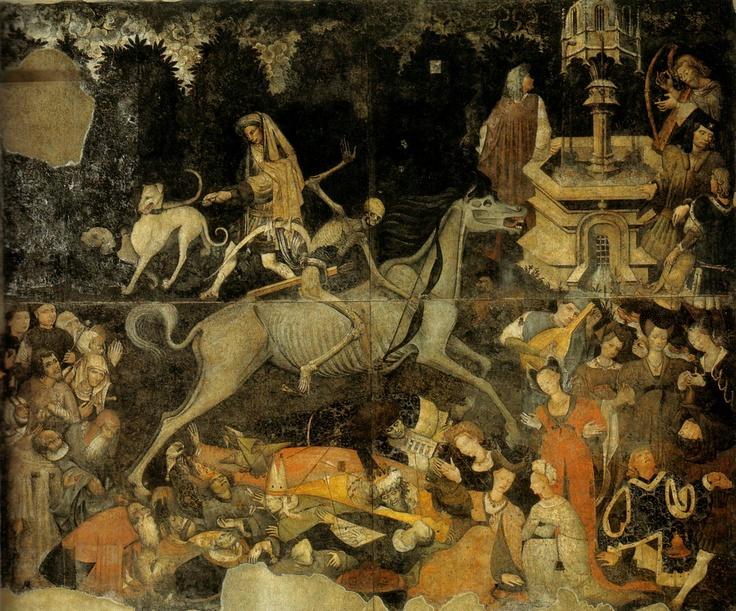 Unknown artist, Il trionfo della morte (The Triumph of Death), 1446.Palazzo Sclafani, Palermo, Italy.