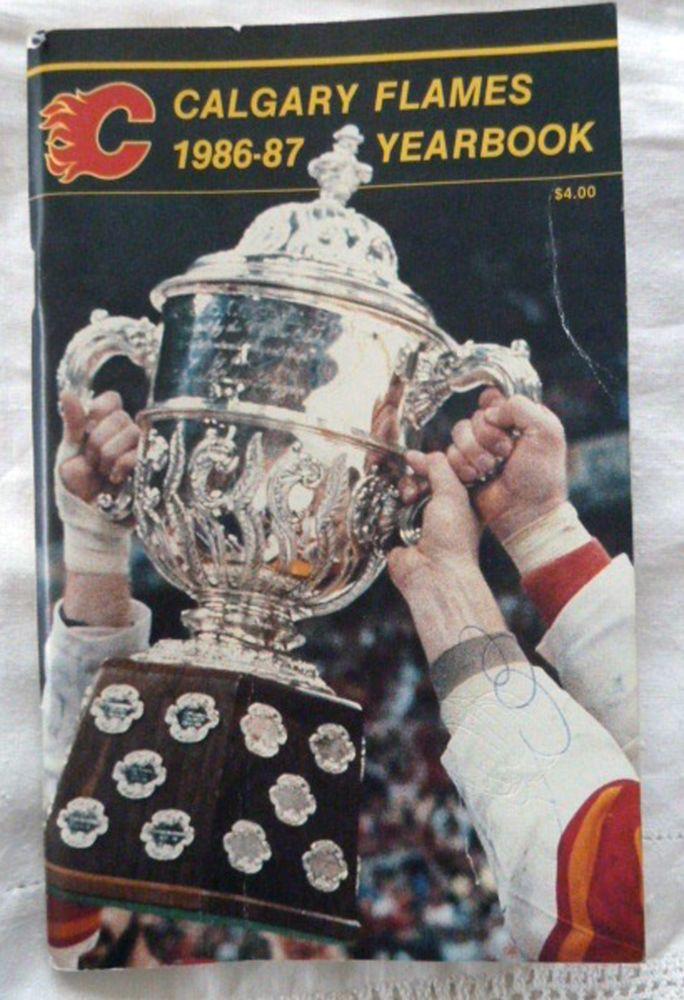 Calgary Flames 1986-87 YearBook Media Guide NHL Lanny McDonald Brett Hull Hockey #CalgaryFlames
