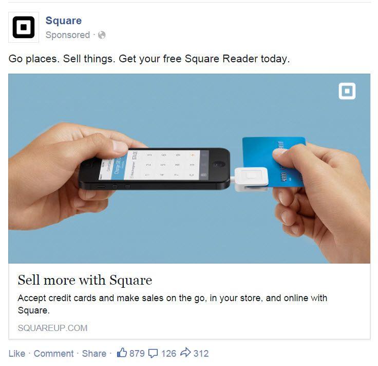 Square's FB Ad