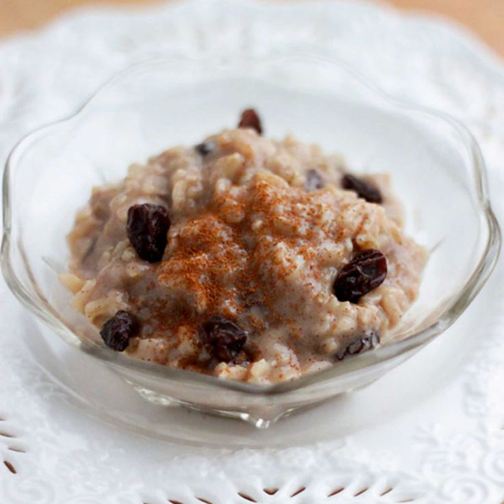 Cinnamon & Raisin Brown Rice Pudding. This make-ahead brown rice pudding tastes best the next day, after the flavors have had time to meld in the fridge. Whether you serve it for breakfast, a snack or dessert, it's a definite crowd-pleaser and a great dish to make on a Sunday afternoon to have for the week!
