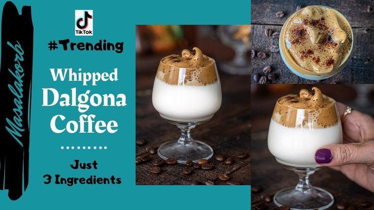 Dalgona coffee recipe tik tok trending whipped coffee