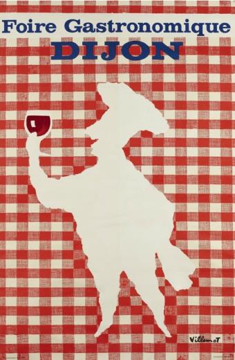 Vintage Poster. Foire Gastronomique de Dijon