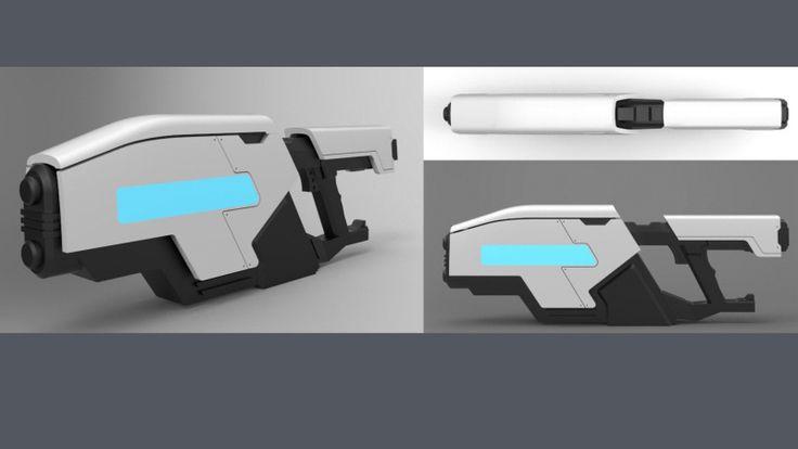 3D rendering _  1:6 sci-fi gun