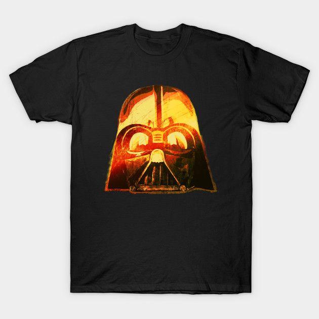Darth Vader Helmet T-Shirt by Scar Design #darthvader #darthvadertshirt #starwars #starwarstshirt #tshirts #giftsforhim #kids #buytshirts #cooltshirts #movietshirts #cinemagifts