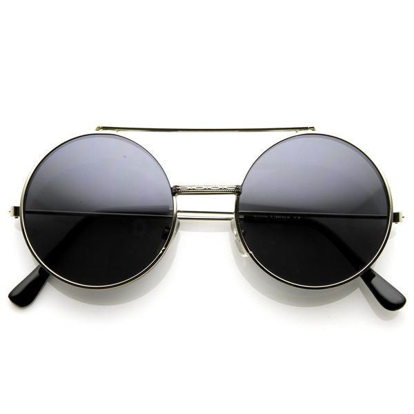 AVA: Steampunk Vintage Retro Round Circle Flip Up Sunglasses 8795