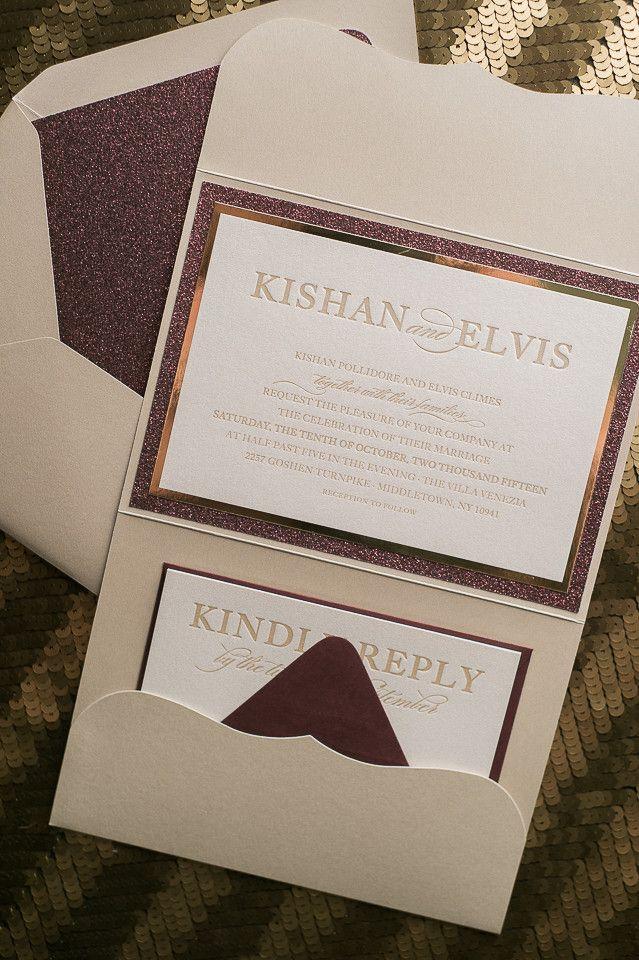 sample wedding invitation letter for uk visa%0A ALYSSA Suite    STYLED    Glitter Pocket Folder Package