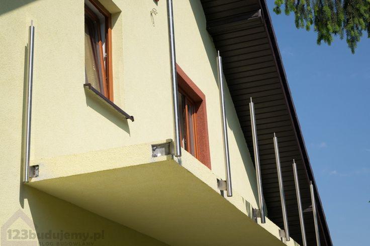 mocowanie balustrady do czoła balkonu balustrada #szklana - #Balustrada, #Barierka, #Balkon, Balustrada Szklana, #Balustrada Balkonowa, Okna, #Podbitka, Dach