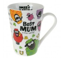 Ceramic Mug with Wacky Woollies Design for the Best Mum