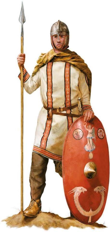 A Roman cavalry officer, circa 400 AD (by diptych of Stilicho). Artwork by Tom Croft.