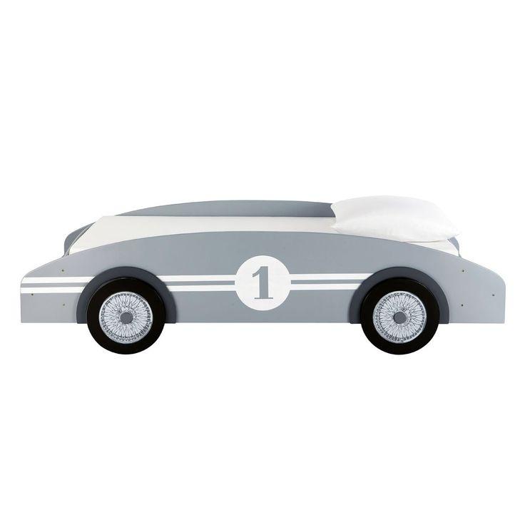 Letto grigio per bambini a forma di auto CIRCUIT