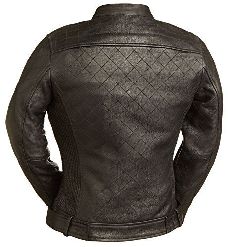 Queen of Diamonds Ladies Street Bike Jacket with Spandex Fitted Panels