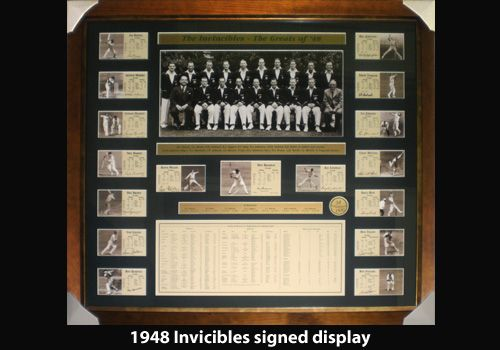 1948 Invincibles signed display