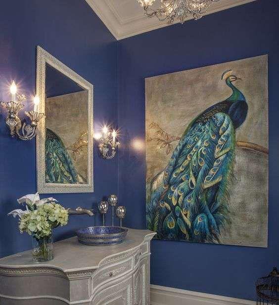 Blu pavone per arredamento autunno inverno 2016-2017 - Bagno blu pavone