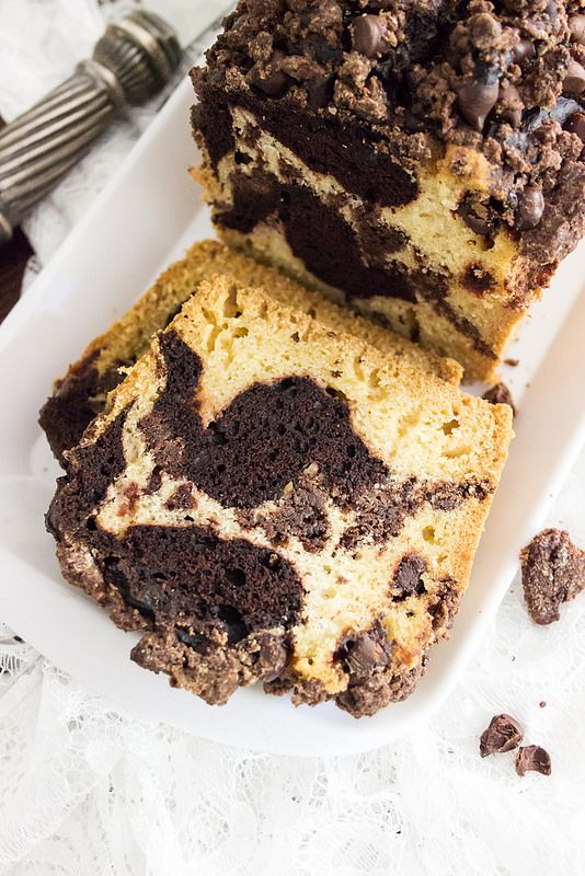 Chocolate Swirl Crumb Cake - Sandra