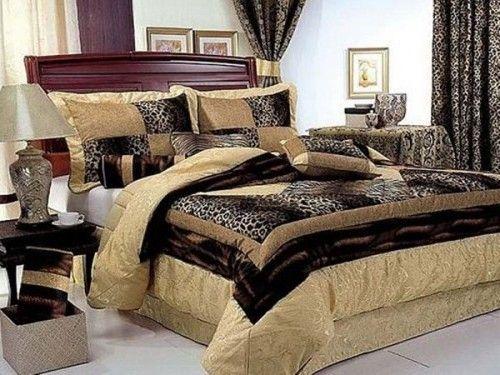 Leopard Bedroom | Zebra print drapes and curtains bedroom design
