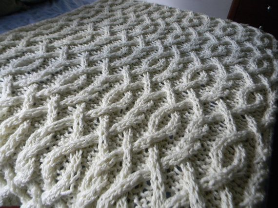 Cable Me Crazy Chunky Cable Knit Blanket Pattern Only