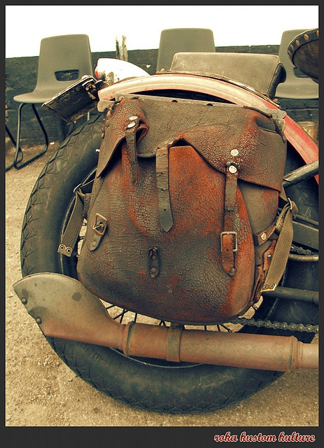 motorcycle - leather bag
