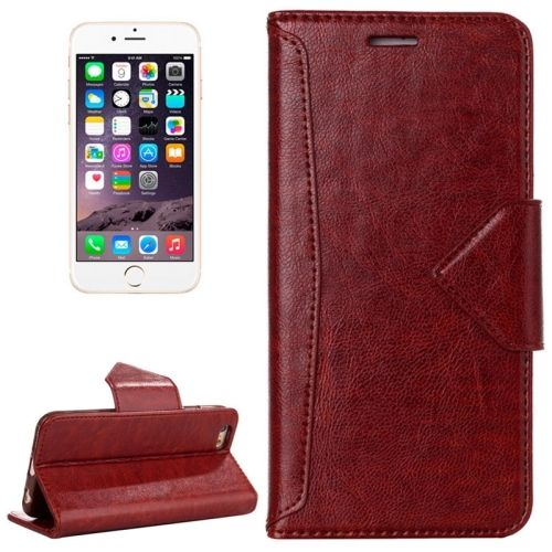 [USD2.74] [EUR2.47] [GBP1.94] HAWEEL Magnetic PU Leather Case with Holder & Card Slots for iPhone 6 & 6S(Brown)