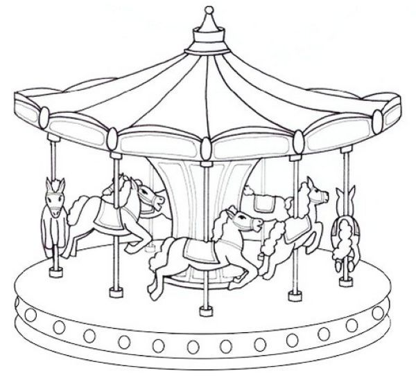 Free Carousel Coloring Pages Collection Free Coloring Sheets Coloring Pages Merry Go Round Free Coloring Sheets