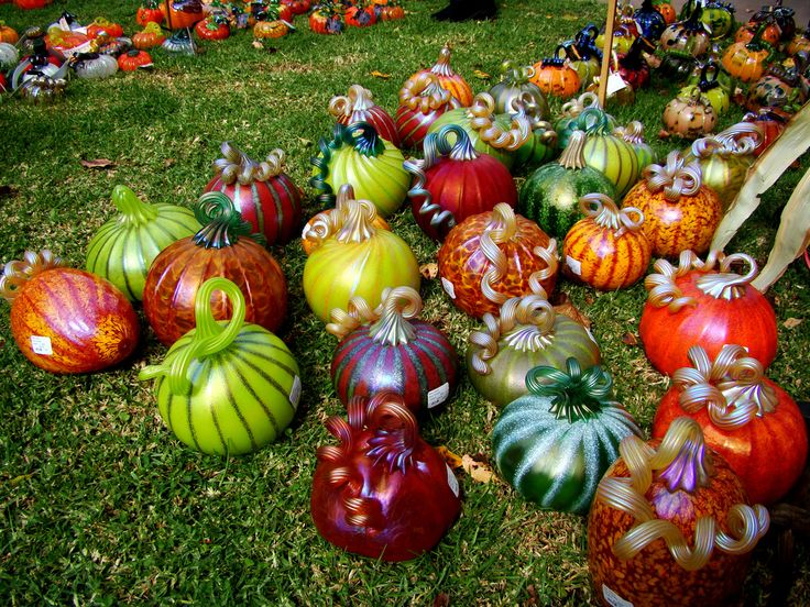 Glass pumpkins by Peter Vizzusi The annual Great Glass Pumpkin Patch held in Palo Alto California.