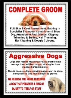 26 best dogs grooming images on pinterest dog grooming business dog grooming complete groom aggressive dogs signs by groomergraphix solutioingenieria Image collections